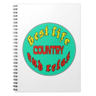 El mejor país de la vida libro de apuntes con espiral