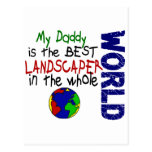 El mejor paisajista en el mundo 2 (papá) tarjetas postales