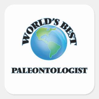 El mejor paleontólogo del mundo pegatina cuadrada