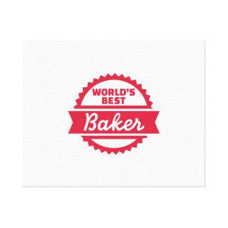 El mejor panadero del mundo lona estirada galerías