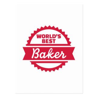 El mejor panadero del mundo tarjetas postales