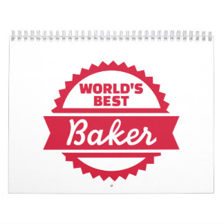 El mejor panadero del mundo calendario de pared