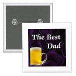 El mejor papá - cerveza en púrpura pin