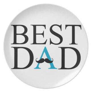 El mejor papá con un bigote sobre A Platos De Comidas