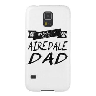 El mejor papá de Airedale del mundo Carcasas De Galaxy S5