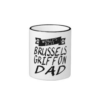 El mejor papá de Bruselas Griffon del mundo Taza A Dos Colores