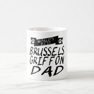 El mejor papá de Bruselas Griffon del mundo Taza Mágica