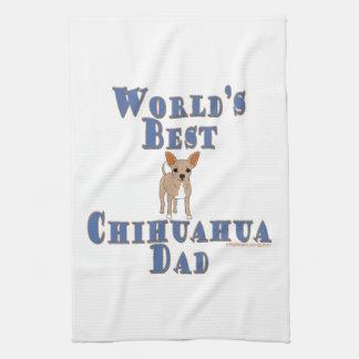 El mejor papá de la chihuahua del mundo toalla de mano