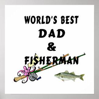 El mejor papá de la pesca de los mundos póster