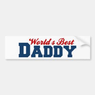 El mejor papá de los mundos etiqueta de parachoque