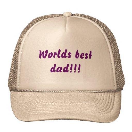 ¡El mejor papá de los mundos!!! Gorros Bordados