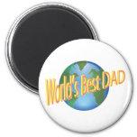 El mejor papá de los mundos imán de frigorífico