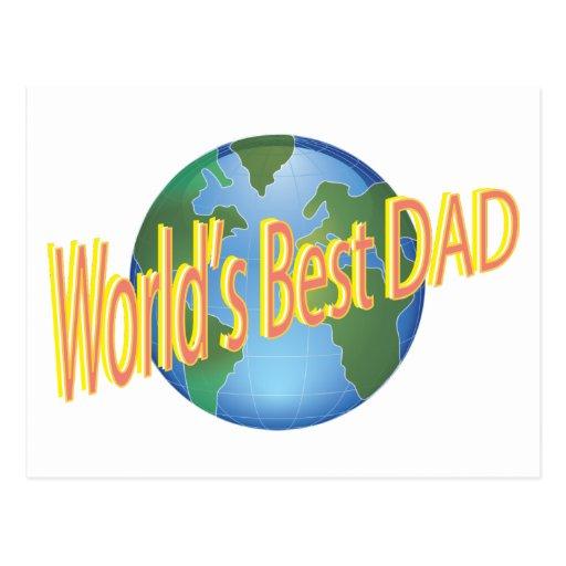 El mejor papá de los mundos postales