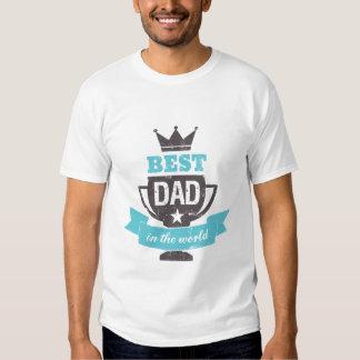 El mejor papá de padre de la camiseta divertida playera