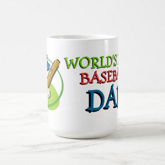 El mejor papá del béisbol de los mundos taza de café