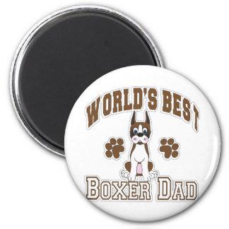 El mejor papá del boxeador del mundo imán redondo 5 cm
