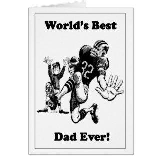 El mejor papá del fútbol del mundo retro tarjeta de felicitación