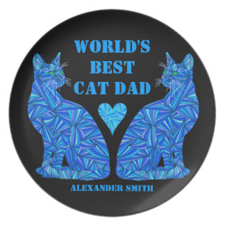 El mejor papá del gato del mundo personalizó la platos