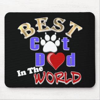 El mejor papá del gato en el mundo para el día de  alfombrilla de ratones