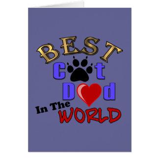 El mejor papá del gato en el mundo para el día de  felicitación