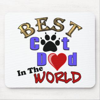 El mejor papá del gato en los regalos del mundo alfombrilla de raton