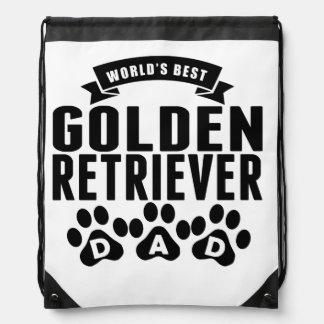 El mejor papá del golden retriever del mundo mochilas