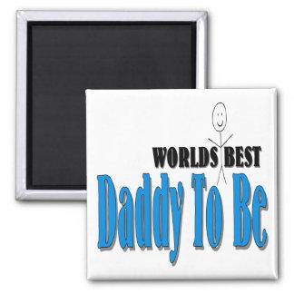 El mejor papá del mundo a ser imán cuadrado