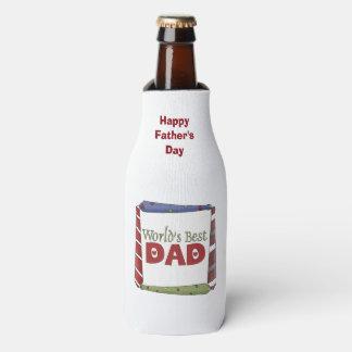 El mejor papá del mundo ata el refrigerador de la enfriador de botellas