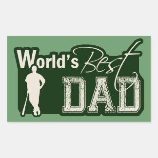 El mejor papá del mundo; Béisbol Rectangular Pegatina