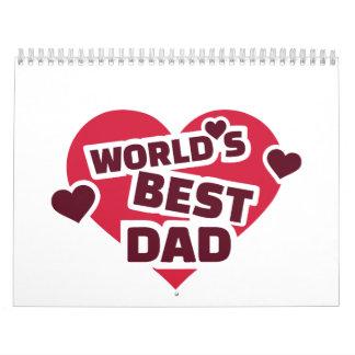 El mejor papá del mundo calendarios de pared