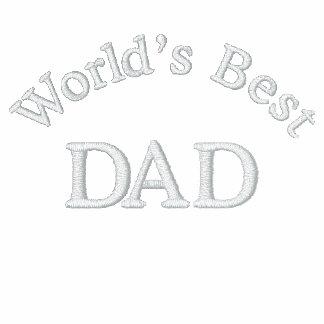 El mejor papá del mundo camiseta polo bordada