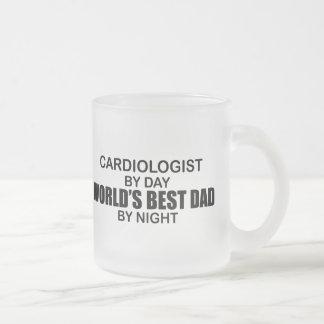 El mejor papá del mundo - cardiólogo taza de cristal