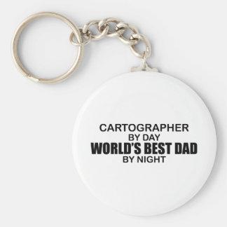 El mejor papá del mundo - cartógrafo llavero redondo tipo pin