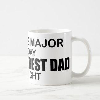 El mejor papá del mundo - comandante de la ciencia taza de café
