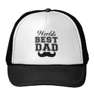El mejor papá del mundo con el bigote gorros