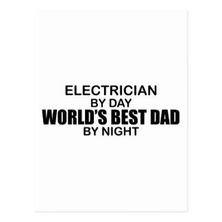 El mejor papá del mundo - electricista tarjetas postales