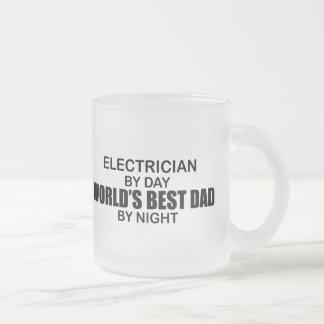 El mejor papá del mundo - electricista taza de cristal