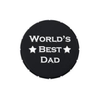 El mejor papá del mundo en negro frascos de dulces