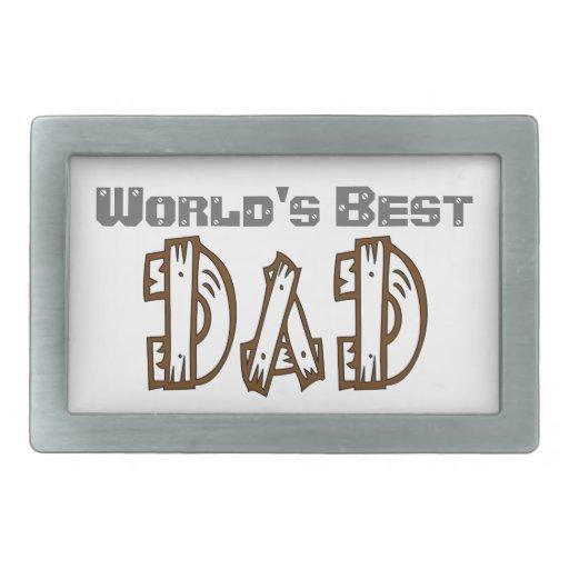 El mejor papá del mundo en su hebilla del cinturón hebilla de cinturon rectangular