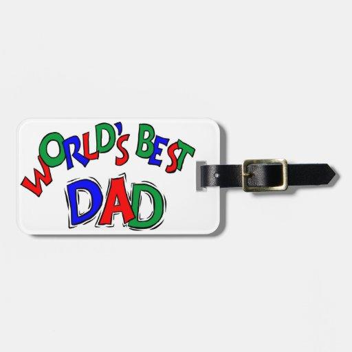 El mejor papá del mundo etiqueta para maleta