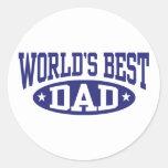 El mejor papá del mundo etiquetas redondas