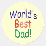 ¡El mejor papá del mundo! Etiquetas Redondas