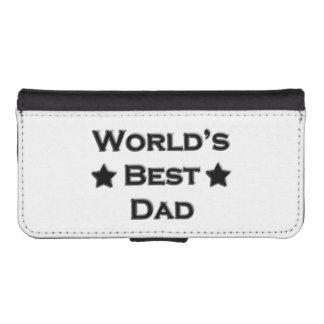 El mejor papá del mundo funda tipo billetera para iPhone 5