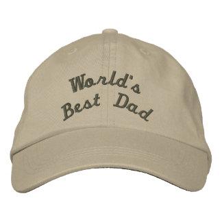 El mejor papá del mundo gorras bordadas