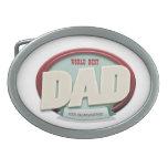el mejor papá del mundo hebillas de cinturon ovales