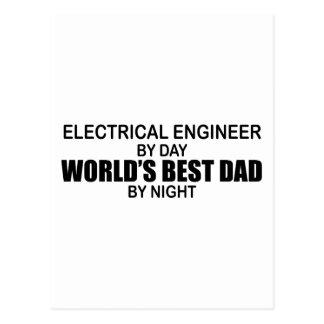 El mejor papá del mundo - ingeniero eléctrico tarjeta postal