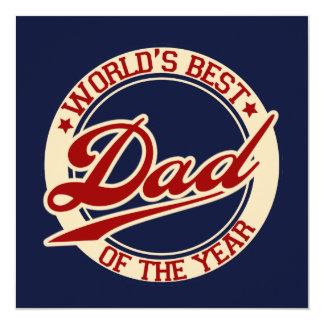 El mejor papá del mundo invitación 13,3 cm x 13,3cm