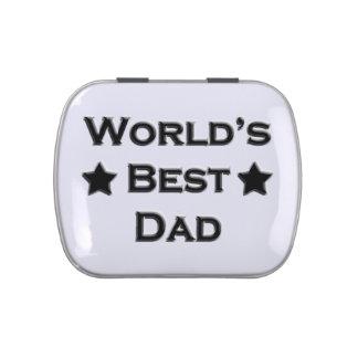 El mejor papá del mundo frascos de dulces