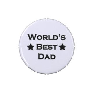 El mejor papá del mundo latas de dulces