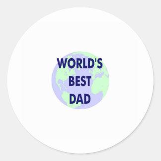 El mejor papá del mundo pegatinas redondas